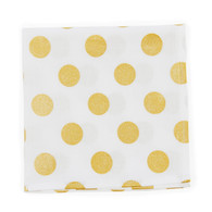 Gold Polka wedding handkerchief