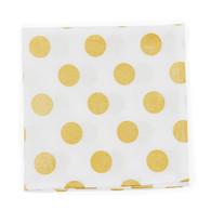 Gold Polka wedding handkerchief
