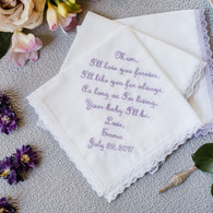 Mother of the Bride Handkerchief