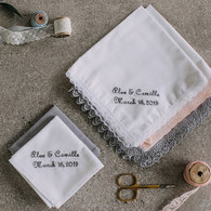 His & Her wedding handkerchiefs
