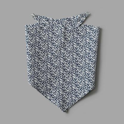 Navy & White Pet-kerchief Bandana