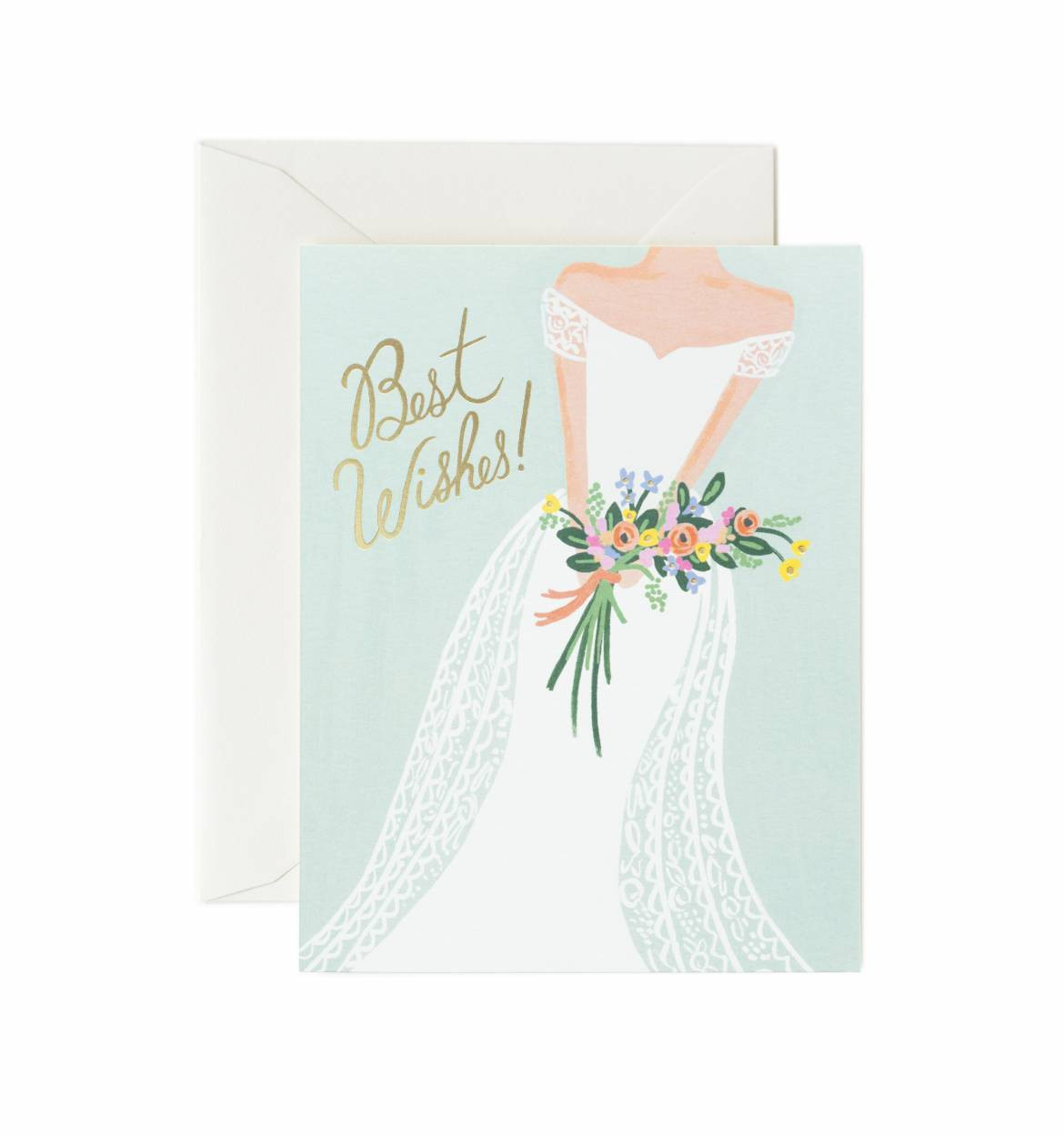 best wishes for the bride card the handkerchief shop