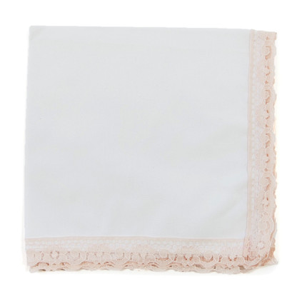 Blushing Bride wedding handkerchief