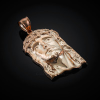 Rose Gold Jesus Face Pendant