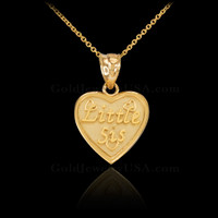 Gold Little Sis pendant necklace