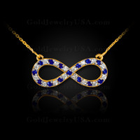 Blue sapphire infinity necklace.