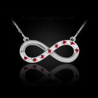 White Gold with rubies.