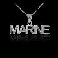 White Gold MARINE Pendant Necklace