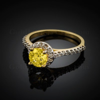Citrine Birthstone Engagement Ring (Nov)