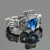 Topaz Claddagh Ring