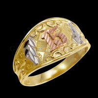 2-tone Gold Quinceanera 15-Anos Ring