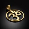 Gold Om (aum) Open Medallion Pendant