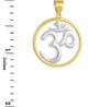 Two-Tone Gold Om (Ohm) Open Medallion Pendant
