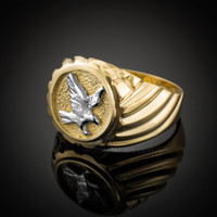 Gold American Eagle Men's Ring