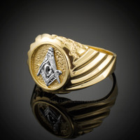Gold Masonic Men's Ring