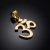 Gold Om pendant.