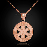 Rose-gold EMT necklace