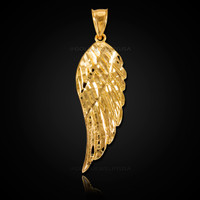 Gold Angel Wing Pendant