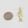 Gold Santa Muerte charm