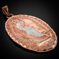 Rose-gold Virgin Mary Pendant