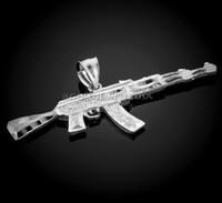 White Gold AK-47 Pendant.