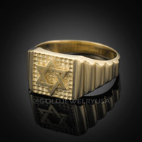 Gold Star of David Ring