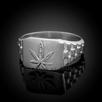 White Gold Marijuana Ring