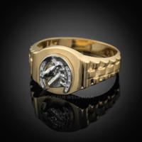 Gold Horseshoe ring.