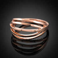 Solid Rose Gold Layered Ring