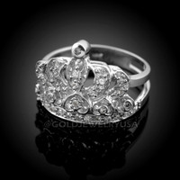 White Gold Quinceanera Ring