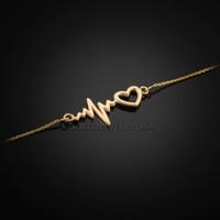 Gold Heartbeat Bracelet