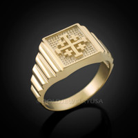 Gold Jerusalem 'Crusaders' Cross Ring