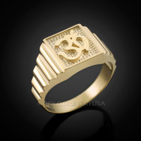 Mens Gold Om Ring
