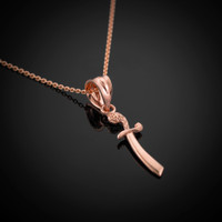 Rose Gold Scimitar Necklace