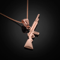 Rose Gold Rifle Necklace