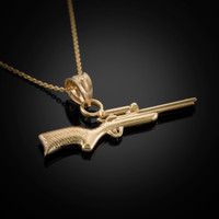 Gold Sniper Rifle Necklace