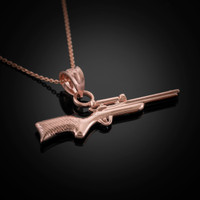 Rose Gold Snipe Rifle Necklace