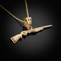 Gold Shotgun Necklace