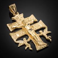 3 Tone Gold - GP13 Gold Caravaca Gold Cross 10K Real Gold 10K Solid Yellow White Rose Gold Caravaca Cross Caravaca Cross