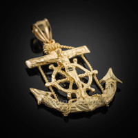 Gold Mariner Cross Pendant