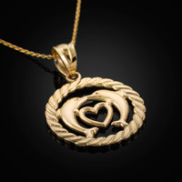 Gold Dolphins Pendant Necklace