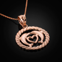 Rose Gold Dolphins Pendant Necklace