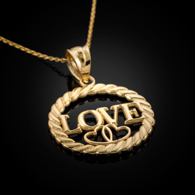 Gold LOVE Pendant Necklace
