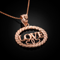 Rose Gold LOVE Pendant Necklace