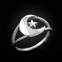 White gold Islamic ring