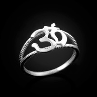 White gold OM ring