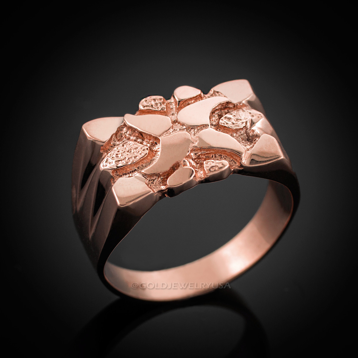 b90ea3d28 Rose Gold Nugget Ring. Loading zoom