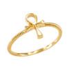 Gold Egyptian Ankh Cross Ring
