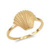 Gold conch shell ring.