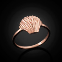 Rose gold seashell ring.